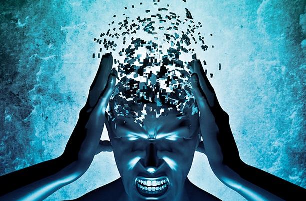 Real brain exploding